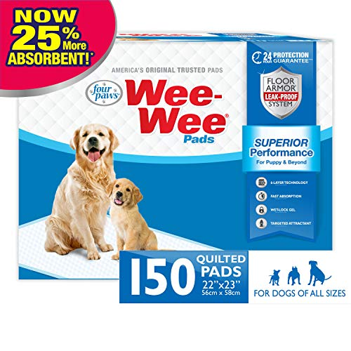 Four Paws Wee-Wee Puppy Dog Housebreaking Pads 150 Count