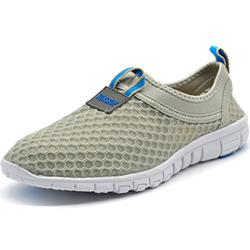 KENSBUY Men's Lightweight Slip on Mesh Shoes Quick Drying Aqua Water Shoes Athletic Sport Walking...