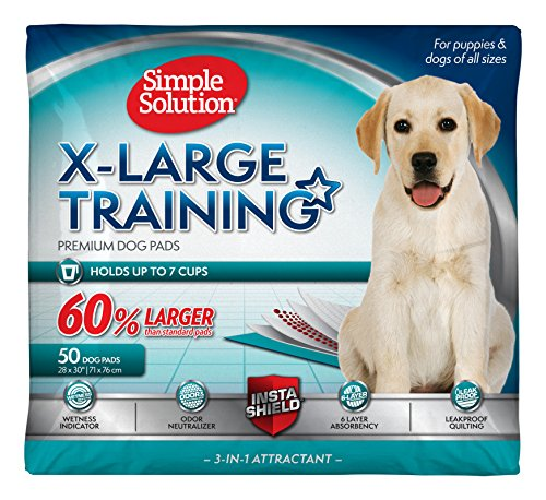Simple Solution Extra Large Training Puppy Pads | 28x30 Inches