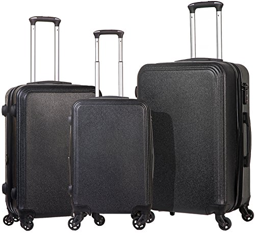 Merax Luggage Set 3 Piece Luggages Suitcase with TSA lock (black_2)