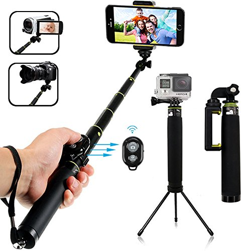 Bluetooth Selfie Stick, LENDOO Extendable Monopod with Tripod Stand for iPhone 7/7plus/6/6 Plus iOS,...