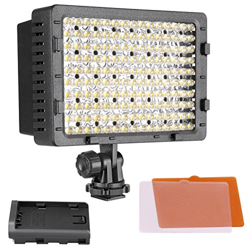 NEEWER 160 LED CN-160 Dimmable Ultra High Power Panel Digital Camera / Camcorder Video Light, LED...