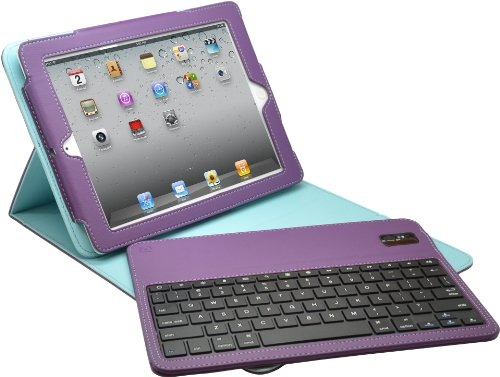 Aduro FACIO Folio Case with Bluetooth Removable Keyboard for Apple iPad (Retail Packaging) (iPad 2/3...