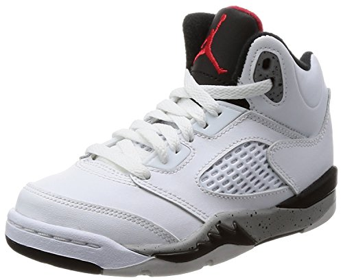 Nike Kids Jordan 5 Retro Basketball Shoe (2 M US Litlle Kids)