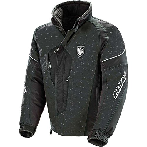 HJC Storm Men's Snocross Snowmobile Jacket - Black/Black / Large