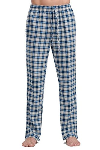 CYZ Mens 100% Cotton Super Soft Flannel Plaid Pajama Pants-F1511072-XL