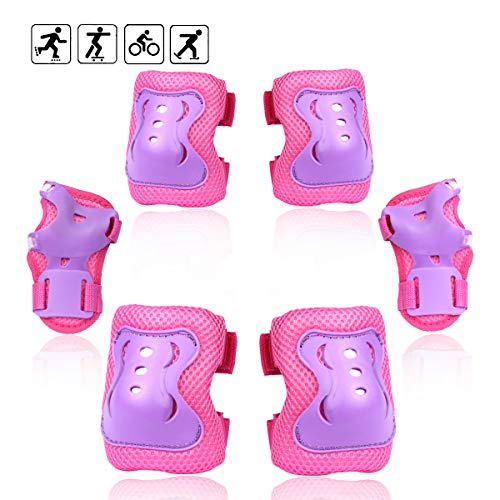 eNilecor Kid's Inline Skating Roller Blading Wrist Elbow Knee Pads Blades Guard Gift for Children's...