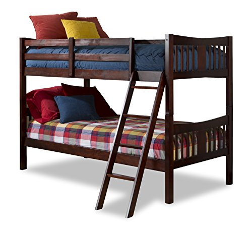 Storkcraft Caribou Solid Hardwood Twin Bunk Bed, Cherry