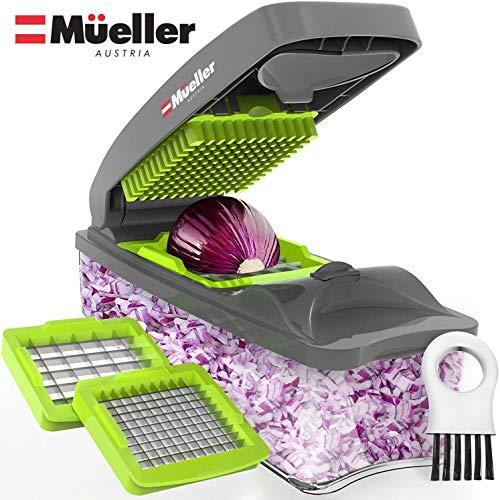 Mueller Onion Chopper Pro Vegetable Chopper - Strongest - NO MORE TEARS 30% Heavier Duty Multi...