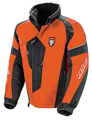 HJC Storm Men's Snow Jacket (Orange/Black, X-Large)