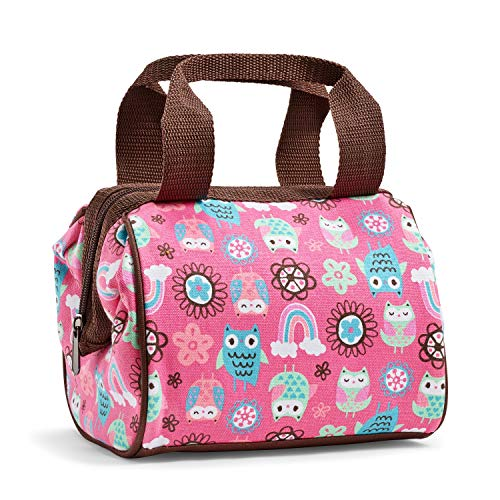 Fit & Fresh Riley Insulated Lunch Bag with Zipper, Rainbow Owl