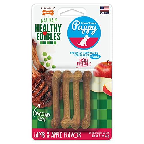 Nylabone Healthy Edibles Puppy Natural Long Lasting Dog Chew Treats Lamb & Apple X-Small/Petite (4...