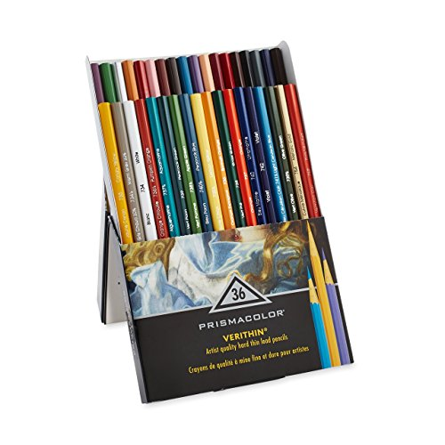 Prismacolor Premier Verithin Colored Pencils, Assorted Colors, 36 Pencils, Pack of 1 Box (2428)
