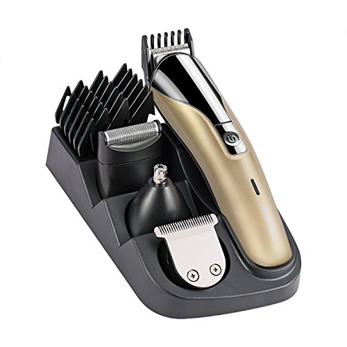 YUNAI Professional 8 in 1 Electric Blade Men's Trimmer of Body & Ear & Nose Mens Hair Clipper...