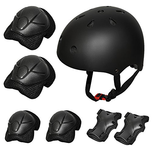 Kiwivalley Kids Boys and Girls Outdoor Sports Protective Gear Safety Pads Set [Helmet Knee Elbow...