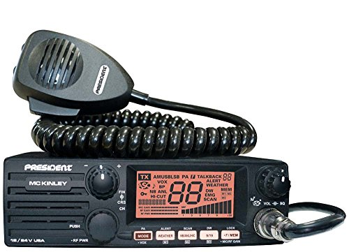 President Electronics MC KINLEY USA Hm AM/SSB Tranceiver CB Radio, 40 Channels, 7 Weather Channels,...