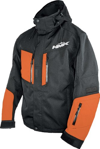 HMK Maverick Mens Black/Orange Snowmobile Jacket - X-Large