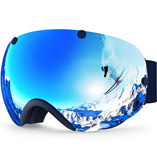 Zionor XA Ski Snowboard Snow Goggles for Men Women Anti-Fog UV Protection Spherical Dual Lens Design...