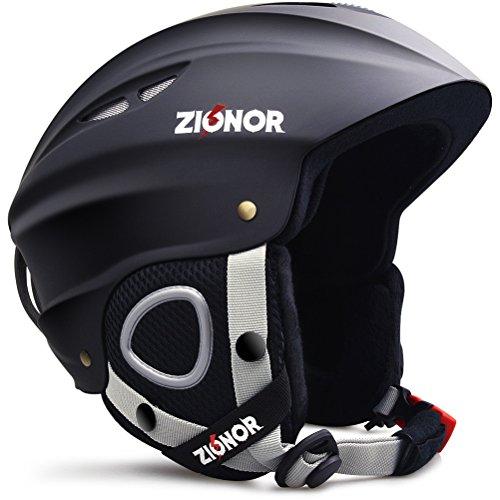 ZIONOR Lagopus H1 Ski Snowboard Helmet for Men Women - Air Flow Control Adjustable Fit Black...