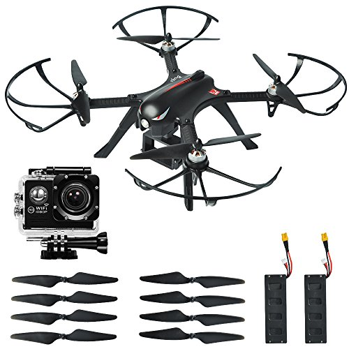 MJX Bugs3 Quadcopter Drone with Brushless Motor, 1080p High definition Action Camera, Smart...