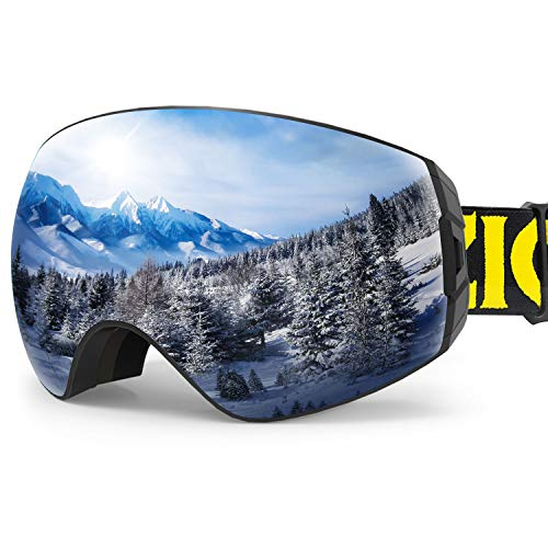 ZIONOR X7 Ski Snowboard Snow Goggles for Men Women Anti-Fog UV Protection Spherical Dual Lens Design...