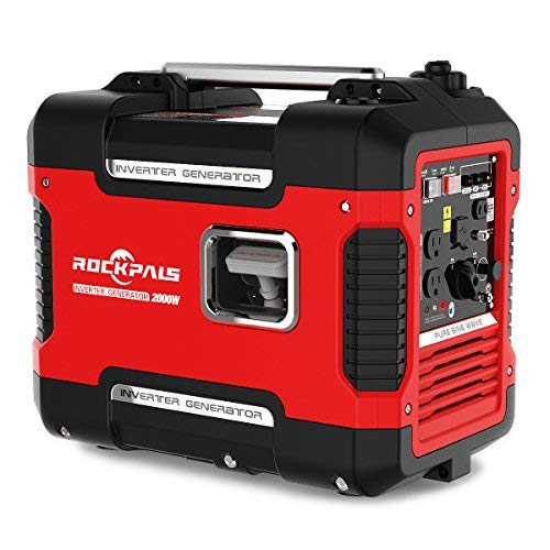 Rockpals 2000-Watt Super Quiet Inverter Generator, 9 Hours Time Portable Camping Gas Power...