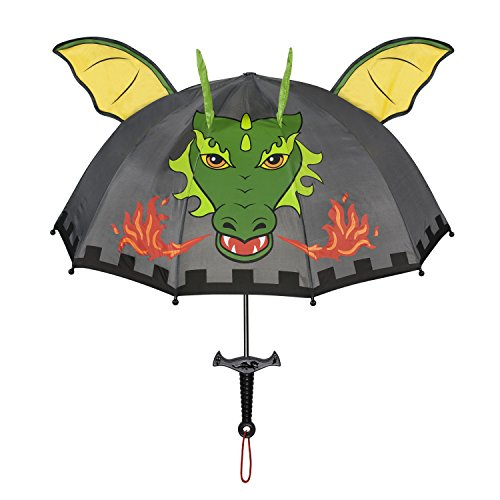 Kidorable Boys' Grey Dragon Knight Umbrellas, Gray, One Size