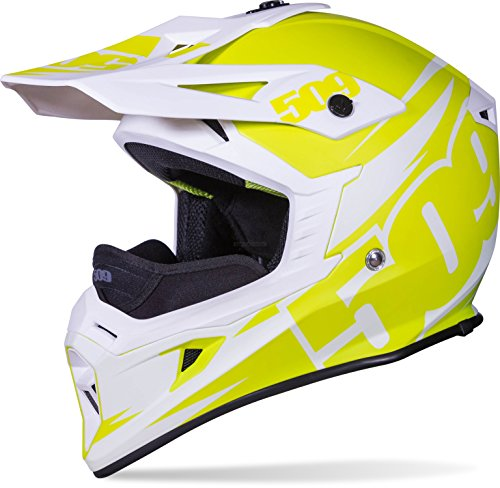 509 Tactical Snow Snowmobile Helmet - Lime - Green & White - 509-HEL-TLI-_
