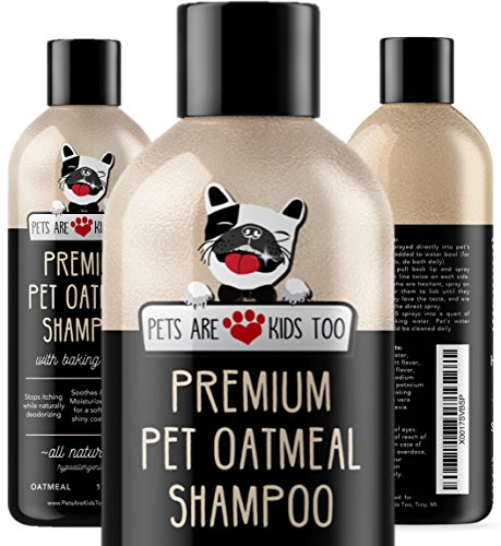 Pet Oatmeal Anti-Itch Shampoo & Conditioner In One! Smelly Puppy Dog & Cat Wash, Natural Ingredients...