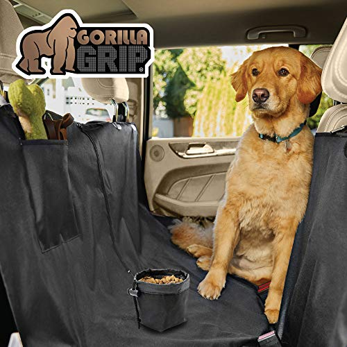 Gorilla Grip Original Premium Waterproof Slip-Resistant Pet Car Seat Protector for Pets, Durable...