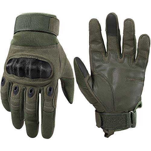 WTACTFUL Touchscreen Motorcycle Tactical Full Finger Gloves for Airsoft Paintball Cycling Motorbike...