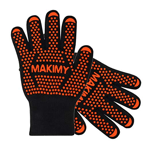 BBQ Gloves For Baking & Grilling – Heat Protection for Barbecue, Grill, Oven, Cooking, Smoking -...