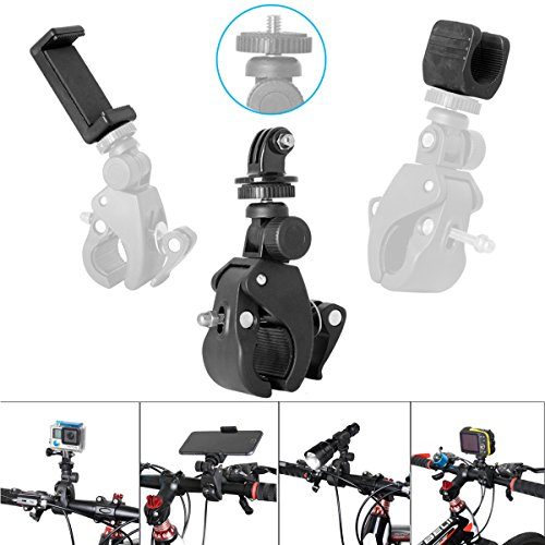ActionCamera+Smartphone+Flashlight+WaterproofCamera4-in-1FastBikeClampMount...