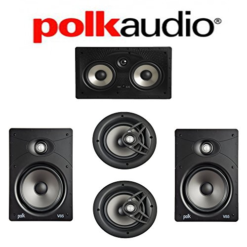 Polk Audio V85 Vanishing Series 5.0 in-Wall/in-Ceiling Home Theater System (V85 + V80 + 255C-RT)
