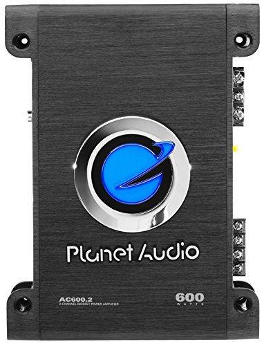 Planet Audio AC600.2 2 Channel Car Amplifier - 600 Watts, Full Range, Class A/B, 2-4 Ohm Stable,...