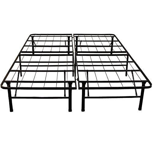 Classic Brands Hercules Black Heavy Duty Metal 14-Inch Platform Mattress Foundation Bed Frame - King