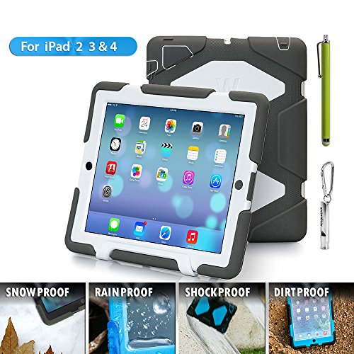 iPad Cases,iPad 2 Case,iPad 3 Case,iPad 4 Case,TRAVELLOR[Heavy Duty] iPad Case,Three Layer Armor...