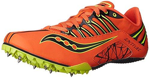 Saucony Men's Spitfire Track Spike Racing Shoe, Black/Silver, 11.5 M US