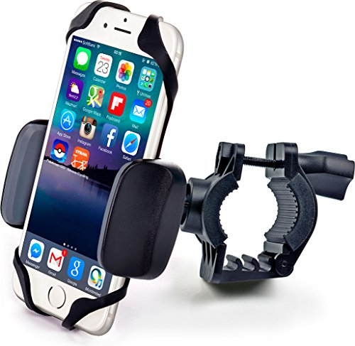 Bike & Motorcycle Phone Mount - for iPhone 11 Pro (Xs, Xr, 8, Plus/Max), Galaxy s10 or Any Cell...