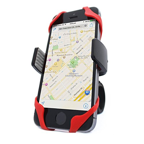 Vibrelli Universal Bike Phone Mount - Fits iPhone X, 8, 8 Plus, 7, 7 Plus, 6, 6 Plus and Android...