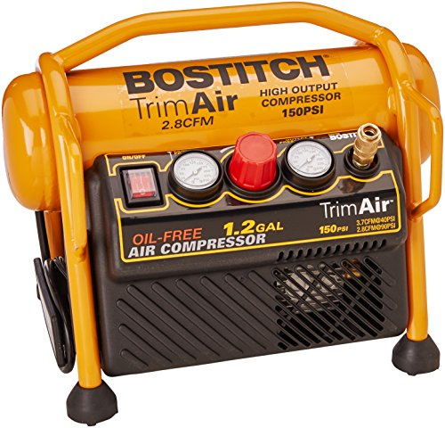 BOSTITCH Air Compressor for Trim, Oil-Free, High-Output, 1.2 Gallon, 120 PSI (CAP1512-OF)