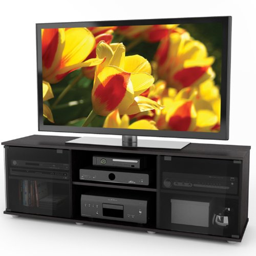 Sonax Fiji 60-Inch TV Component Bench, Ravenwood Black