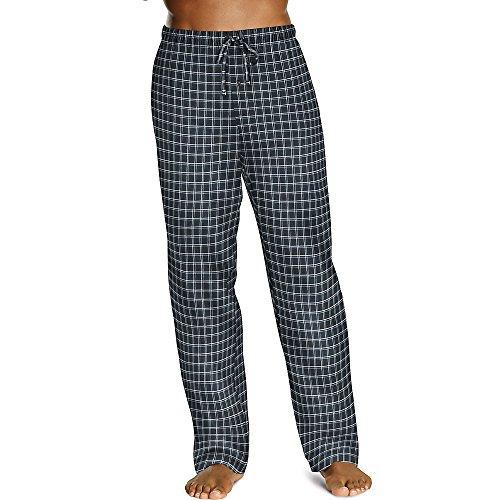 Hanes ComfortSoft Men`s Cotton Printed Lounge Pants - Best-Seller, 01000, XL,