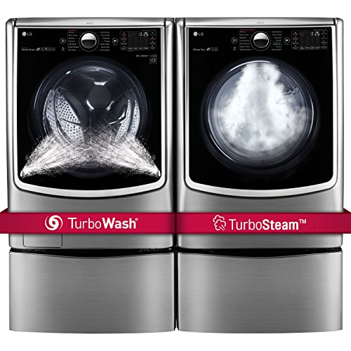 LG POWER PAIR-Mega Capacity TurboWash Series 29' Front Load Laundry System with Steam TechnologyPLUS...