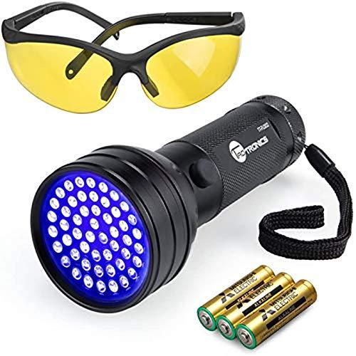 TaoTronics TT-FL002 Black Light, 51 LEDs Uv Blacklight Flashlights Detector for Dry Pets Urine &...