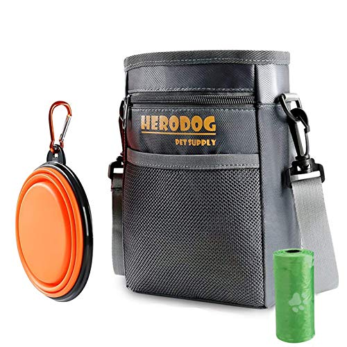 Hero Dog Treat Training Pouch Bag(Small Large Pets) - Dual Compartments Carry Toy Kibble,Treats -...