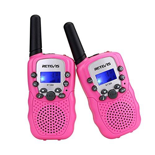 Retevis RT-388 Walkie Talkies for Kids Walkie Talkies Girls 22CH FRS 2 Way Radio Toys(2 Pack, Pink)