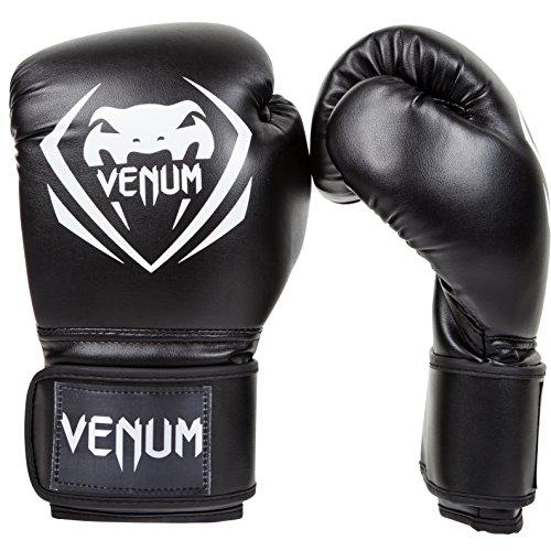 Venum Contender Boxing Gloves - Black/White - 10-Ounce