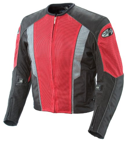 Joe Rocket Phoenix 5.0 Men's Mesh Motorcycle Riding Jacket (Red/Black, Small)