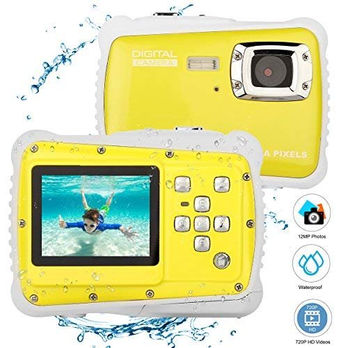 BYbrutek Kids Camera, 12MP HD Children Underwater 3M Waterproof Action Camera Camcorder, 2-Inch LCD,...